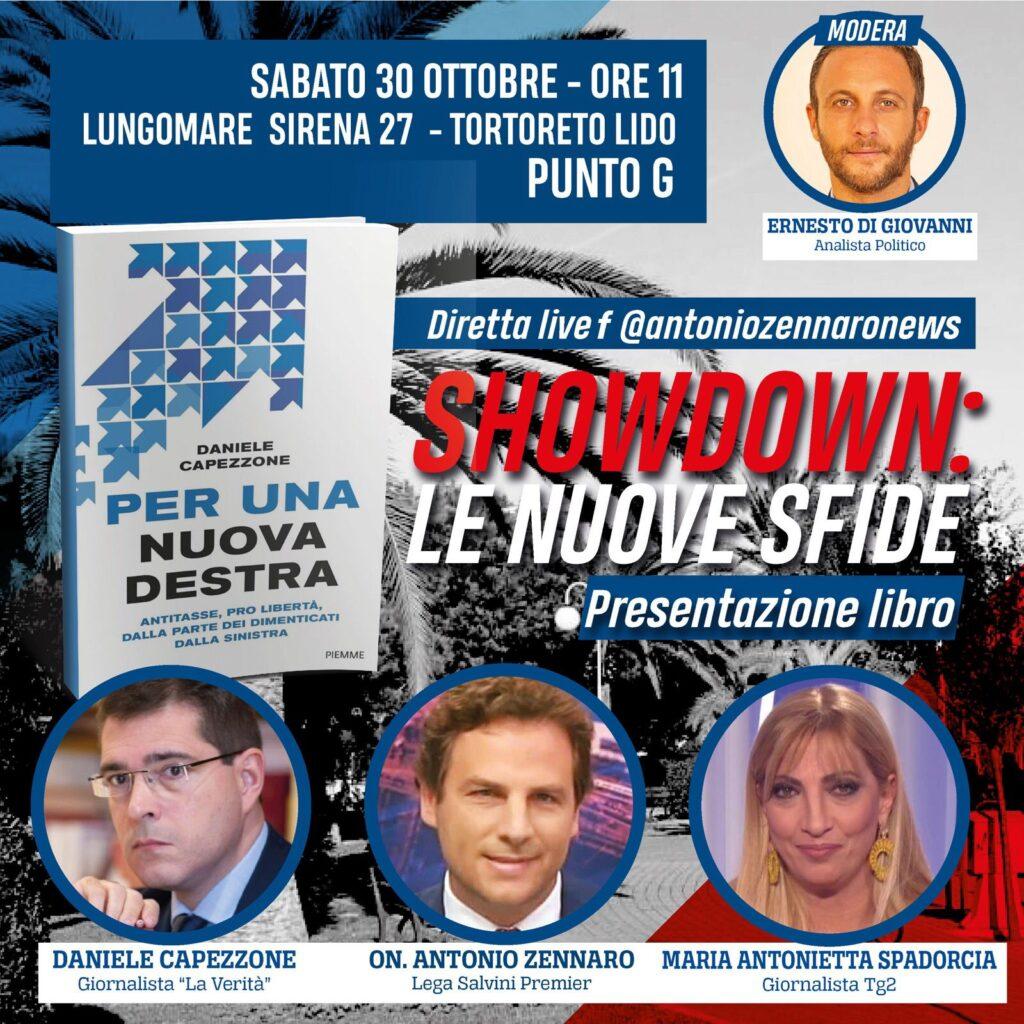 """""""Per una nuova destra"""": Capezzone, Spadorcia e Zennaro il 30 ottobre a Tortoreto"""