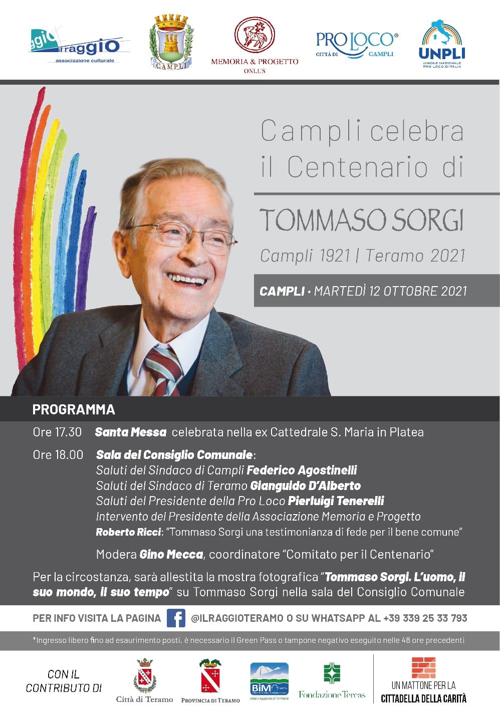 Campli celebra il centenario di Tommaso Sorgi. Allestita mostra fotografica